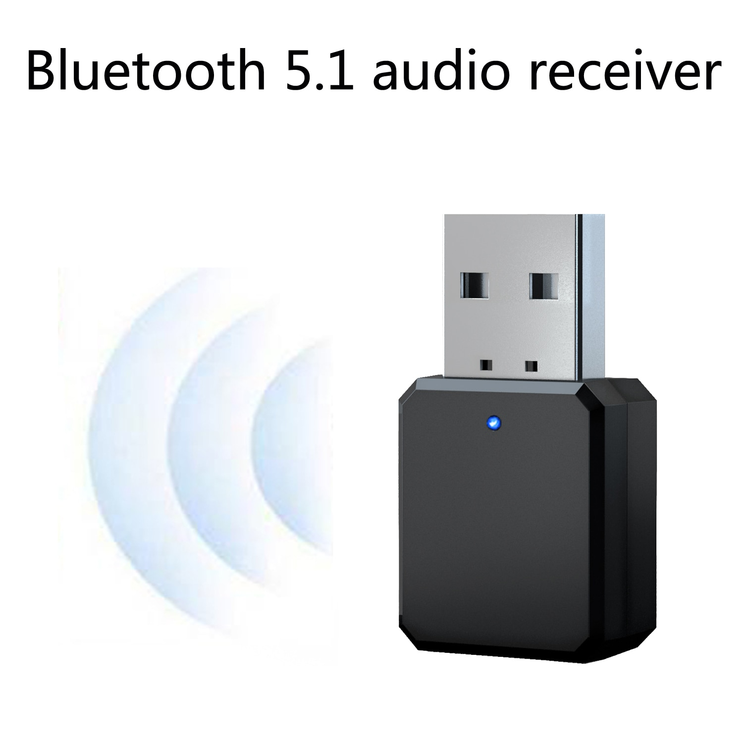 USB Wireless Bluetooth 5.1 Audio Receiver Adapter Music Speakers Hands-free Calling 3.5mm AUX Car Stereo Bluetooth 5.0 Adapter