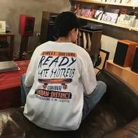 japanese style skateboarding short sleeved t shirt for men and women loose and versatile harajuku style base fashion fresh top