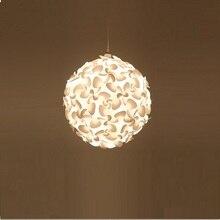 Modern living room decoration pendant lamp simple petal design chandelier home deco study chandelier