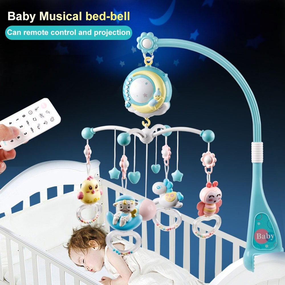 Baby rattle toy rotating mobile bed bell music box For 0 to 12 months newborn baby toy