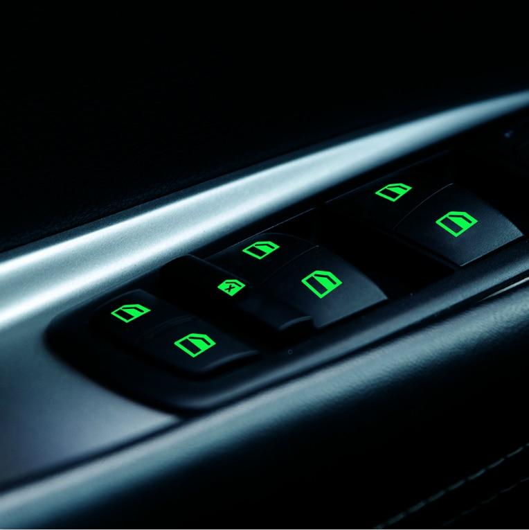 Interruptor da janela do carro etiqueta luminosa para mg zs mgzs hecto 350 mg6 gt mggt gs mggs jac refinar s3 s2 s5 adesivos automotivos internos    -