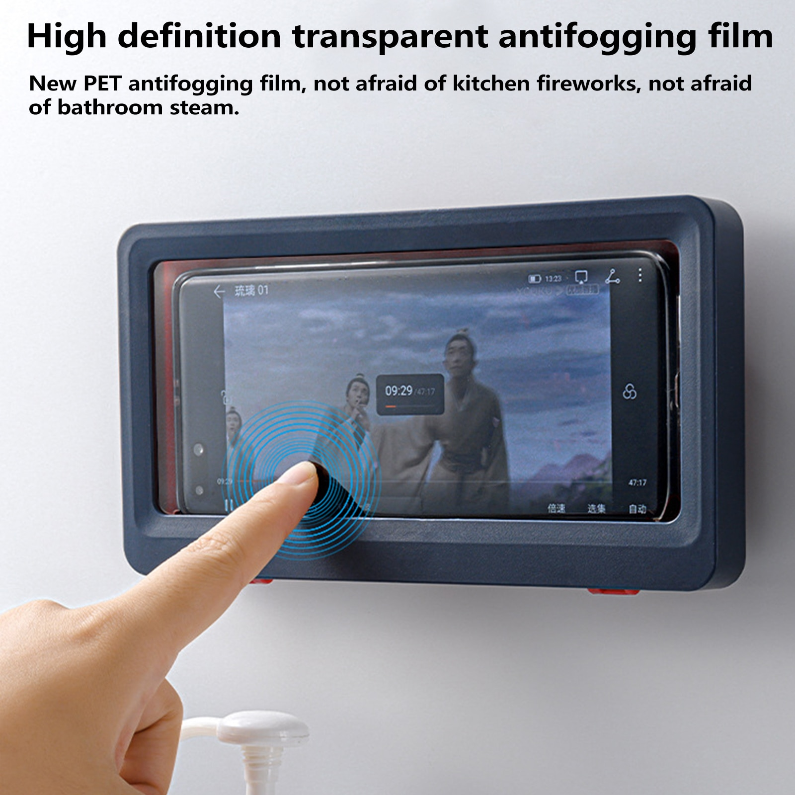 Liner Tablet Or Phone Holder Waterproof Case Box Wall Mounted All Covered Mobile Phone Shelves Self-Adhesive Shower Accessories