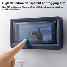 Liner Tablet Or Phone Holder Waterproof Case Box Wall Mounted All Covered Mobile Phone Shelves Self-