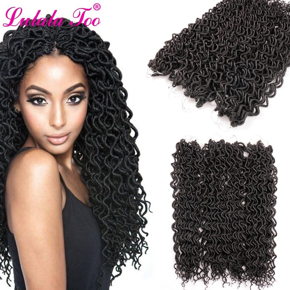 18-дюймовые вьющиеся искусственные волосы для плетения волос с эффектом омбре для женских вязаных кос, 24 корня