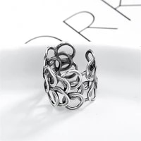 manual creativity personality multi layer circle ring silver color opening adjustable ring womens commitment ring lovers gift