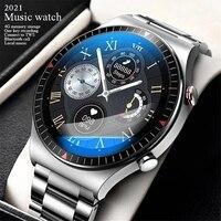 Новинка 2021, умные часы с вызовом Bluetooth, 4G ROM, мужские Смарт-часы с функцией записи местной музыки и фитнес-трекером, Смарт-часы для телефона ...