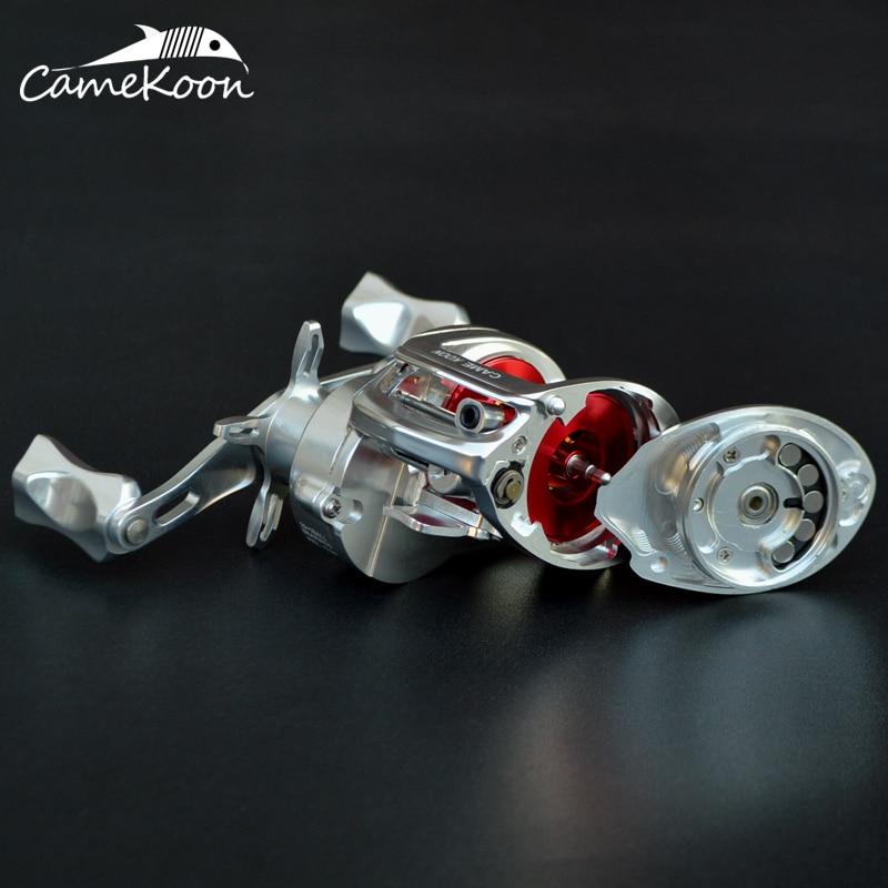 CAMEKOON Full Aluminum Baitcasting Reel 7KG Max Drag 7.3:1 Gear Ratio Magnetic Brake System Lure Fishing Reel for Saltwater enlarge