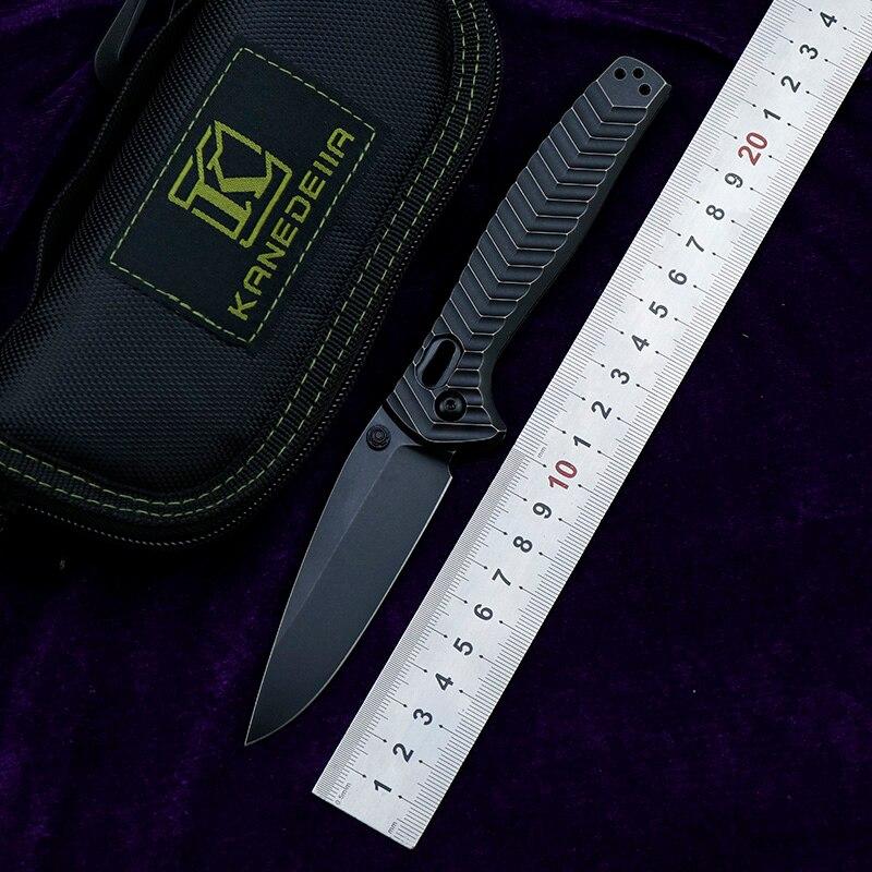 سكين Kanedeii 781 M390 من التيتانيوم بمقبض قابل للطي للاستخدام الخارجي والتخييم والصيد للبقاء على قيد الحياة أدوات المطبخ EDC