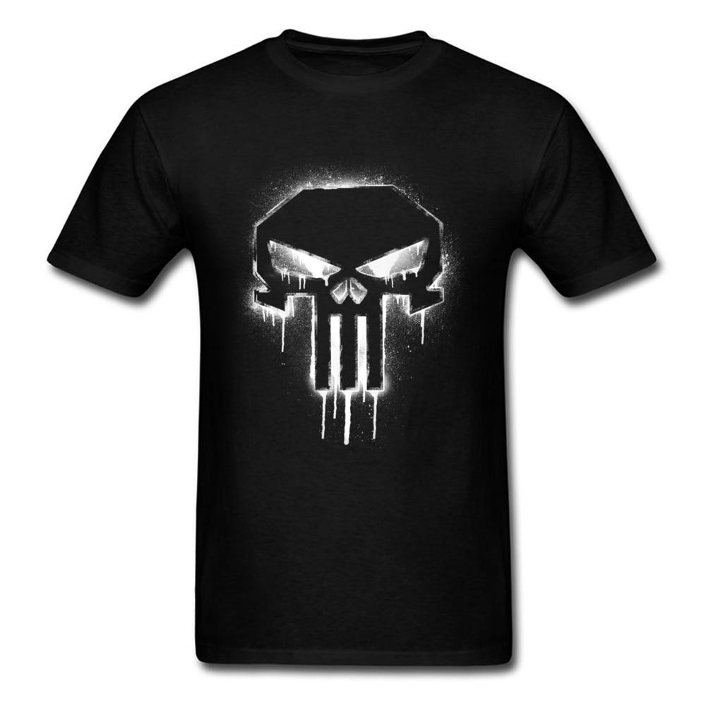 O punisher t camisa crânio 2018 gênero estilo hip hop russo topos & t camisa masculina crânio preto 3d inferno camiseta filme de terror