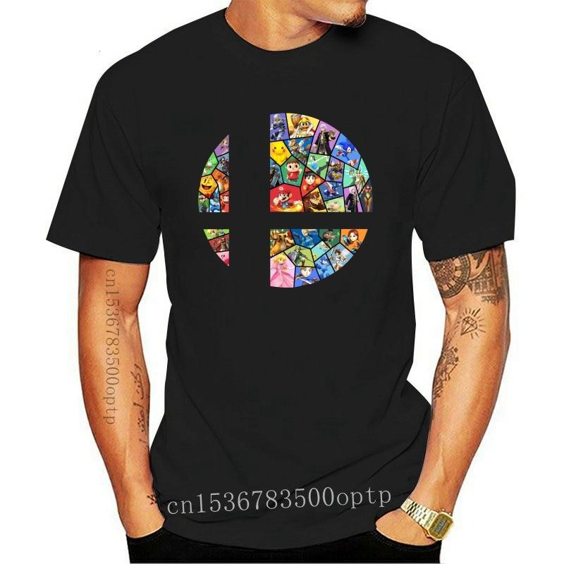 New Men Super-Smash-Bros-Black T-Shirt Size S-3Xl Fashion Tee Shirt