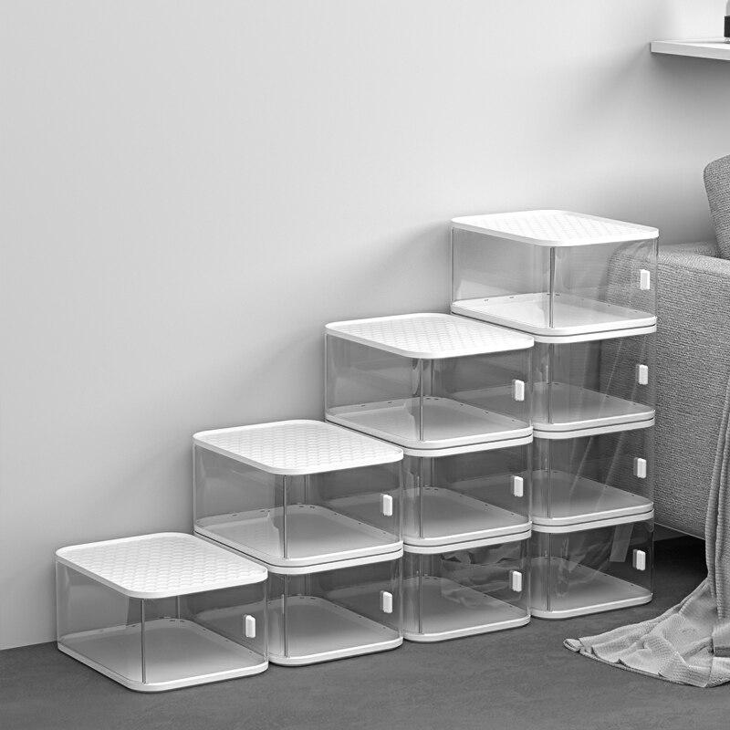 صندوق أحذية أكريليك ملون مضاد للأكسدة ، منظم أحذية رياضي ، خزانة أحذية منزلية ، صندوق تخزين ألعاب ، جديد لعام 2021