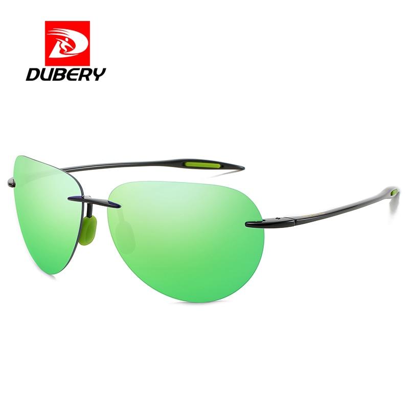 Classic Rimless Aviation Sports Polarized Sunglasses Men WomenDriving Golf Rectangle Ultralight Fram