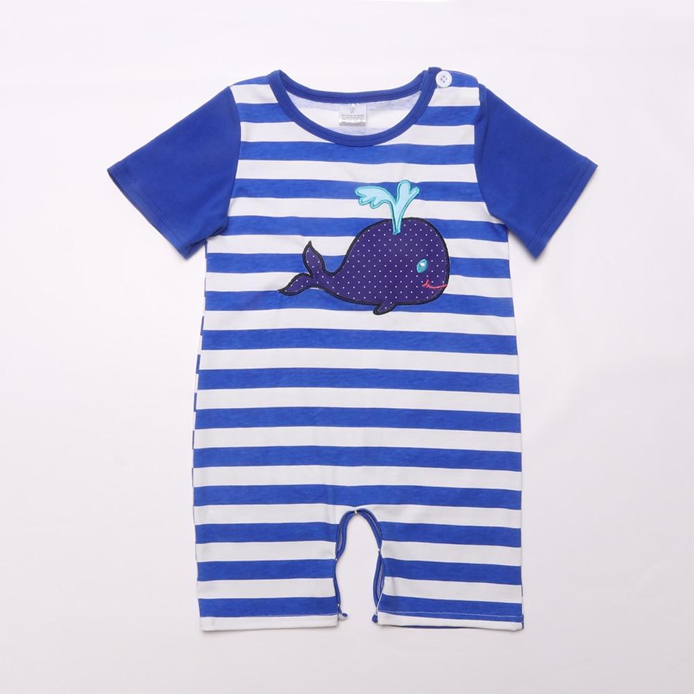 Pelele de ballena para bebé, prendas masculinas para niños, ropa para niños, mono de bebé para verano, Mono para bebé sin mangas