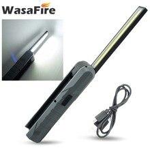 Wasafire COB LED Magnetische Zaklamp Flexibele Inspectie Lamp Cordless Werk Light Emergency Lamp Opknoping Zaklamp USB Oplaadbare