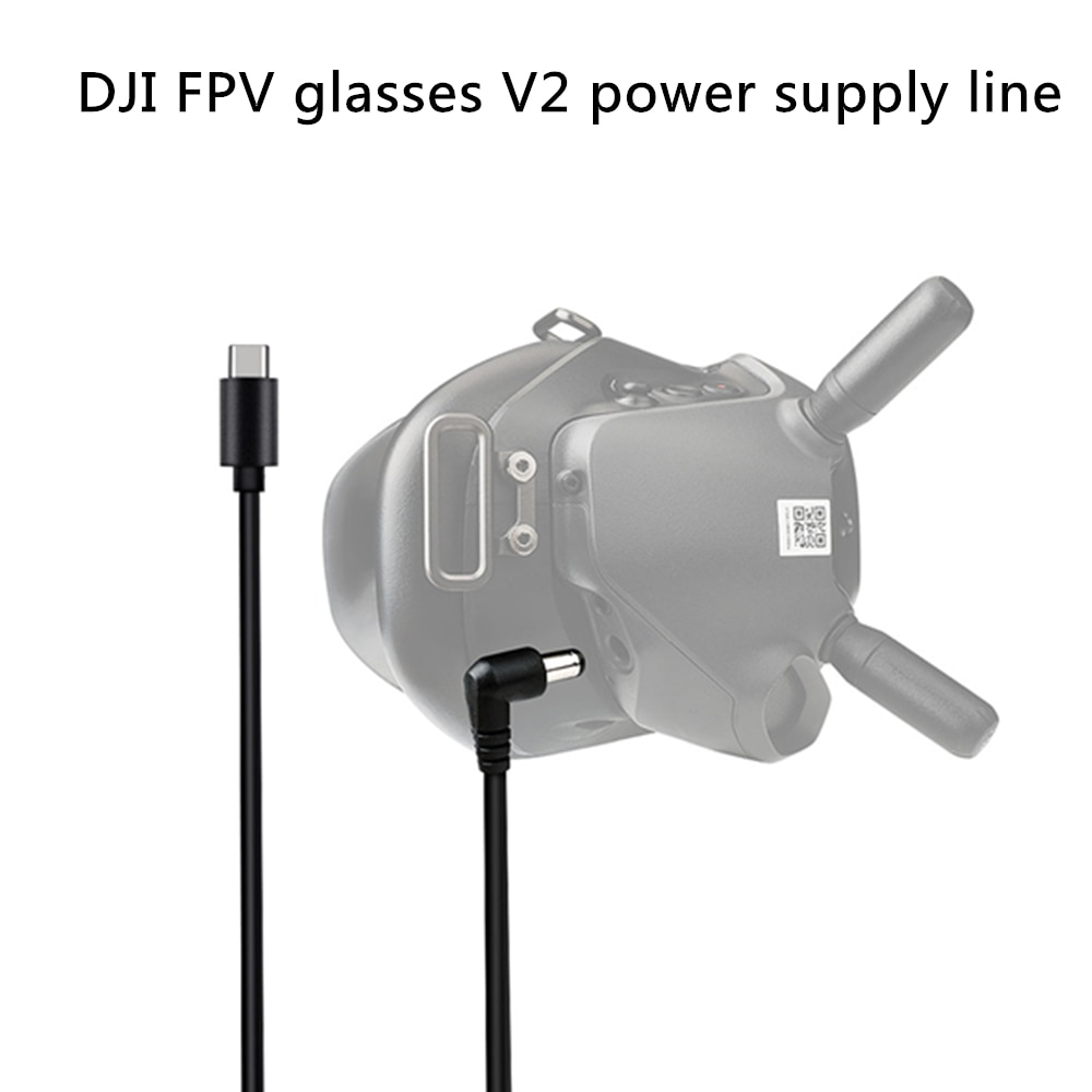 130cm DJI FPV Glasses V2 Cable Power Line Compatible Type-C Port Mobile Power Charger Charging for DJI FPV Accessories
