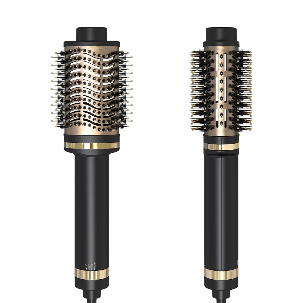 ULELAY New Hot Air Brush Professional Electric Hair Straightener Combs 2 in 1 Black Gold Women Hair Styler Dryer Brush enlarge