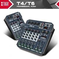 xtuga 46 channels mixer audio built in sound card digital dj mixer with 16 dsp effectbluetoothusbfor dj pc recordingsinging