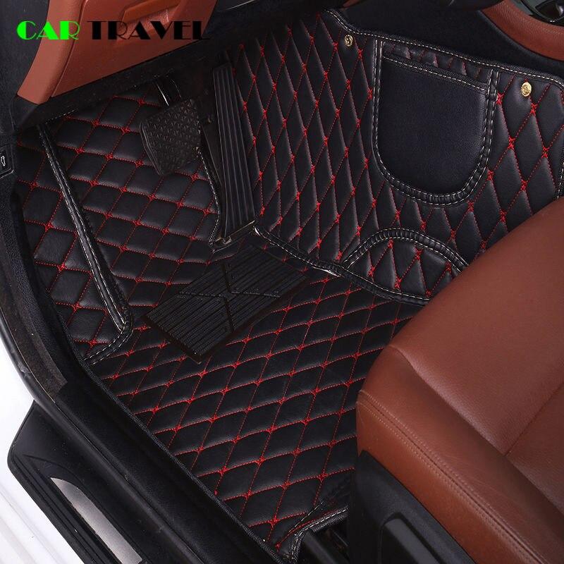 De cuero de alfombra del coche para BMW e30 e39 e36 e34 e46 e60 e90 f10 f30 x1 x3 x4 x5 accesorios para coche x6 1/2/3/4/5/6/7