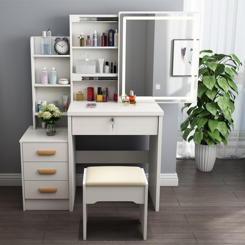 Современный светодиодный туалетный столик, шкафчик, туалетный шкаф для квартиры, белый стол для спальни, туалетный столик светильник кой, з...