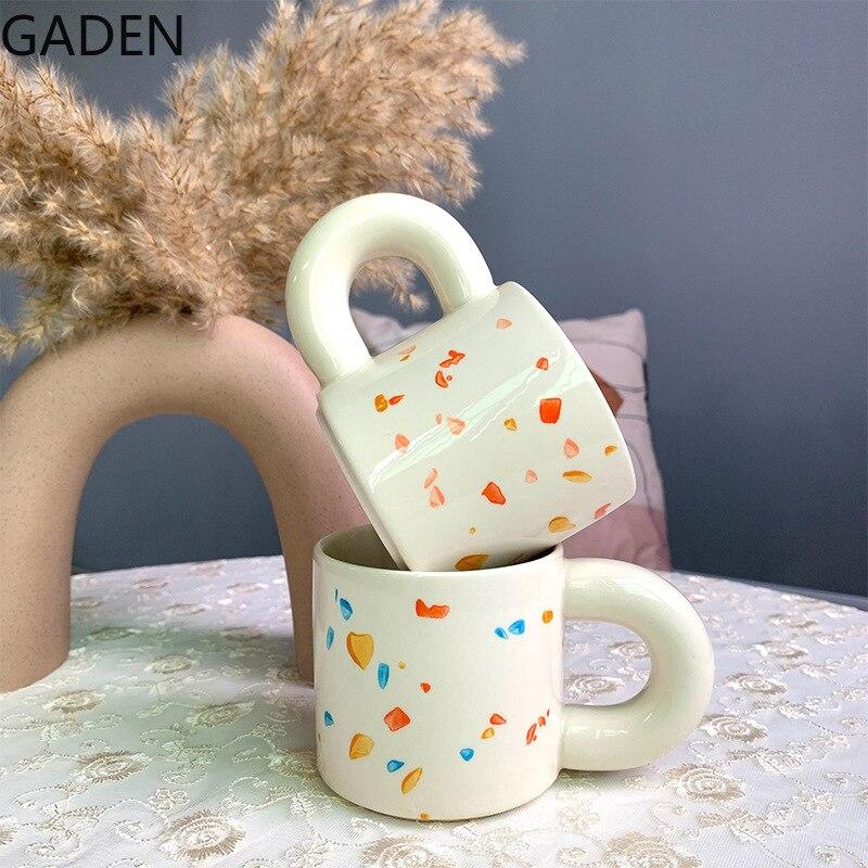 الشمال السيراميك فنجان القهوة المنزلية الحليب القدح طاولة القهوة لغرفة المعيشة الديكور اكسسوارات المطبخ بار أواني الشرب