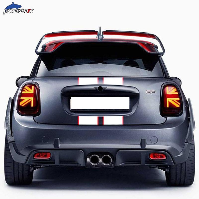 Car Hood Bonnet Stripes Sticker Engine Cover Band Rear Trunk Body Decal For MINI Cooper F56 R56 F55 F57 R57 R58 JCW Accessories