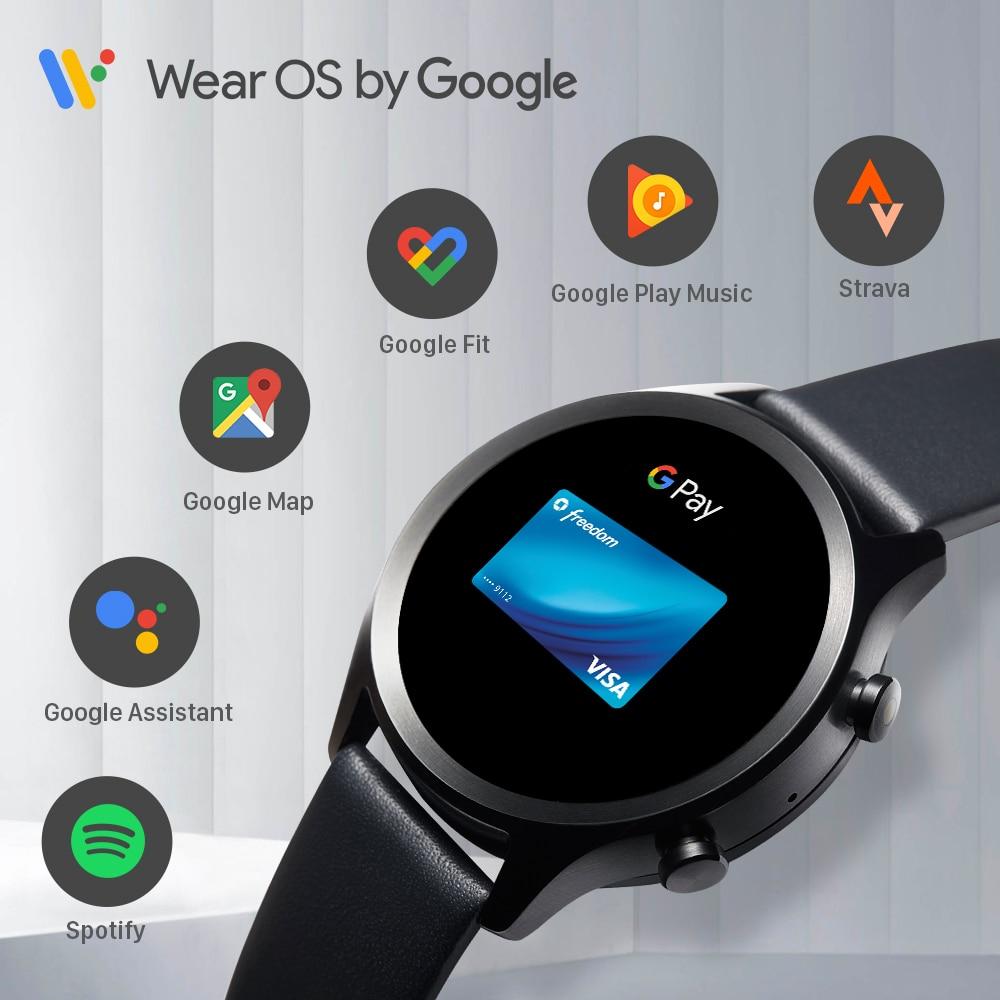 TicWatch-C2 Plus Wear OS ساعة ذكية ، 1 جيجا رام ، GPS مدمج ، تتبع اللياقة البدنية ، IP68 ، مقاوم للماء ، NFC ، Google Pay ، ساعة نسائية