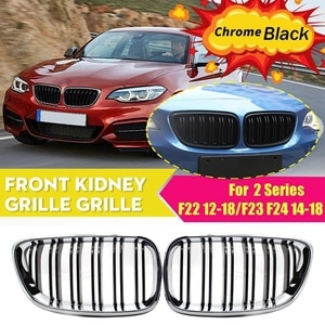 Front Kidney Double Line Grille Sport Grill Replacement For-BMW M2 F87 F22 F23 2014-2018 220I 230I 235I