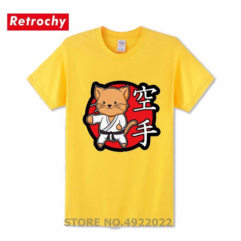 Camiseta bonita de Karate con gatos y Chibi, camiseta de Humor Animal para Karate, camiseta Retro de estilo Retro de Kungfu Kawaii Martialer Arts 80s