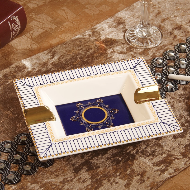 Cigar Ashtrays Holder Ceramic(Hold 2 Pcs) Ashtrays for Cigar Smoking Ashtray Cigar Accessories Lighters & Smoking Accessories enlarge