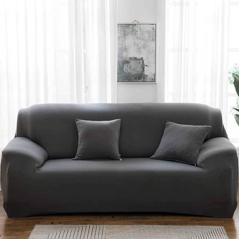 Elastic Solid Color Sofa Cover Spandex Modern All-inclusive Sofa SlipCover for living Room Stretch Couch Covers 1/2/3/4 Seater