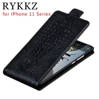 genuine leather flip up and down case cover for apple iphone 11 pro max mobile phone stand case for iphone x xs leather cover