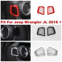 side dashboard air conditioning ac outlet vent decoration panel cover trim for jeep wrangler jl 2018 2019 2020 abs accessories
