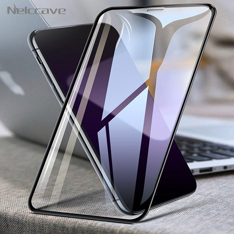 50 peças/lote cobertura completa vidro temperado para apple iphone 11 pro xs max xr x 8 plus 7 6 s 5S se 2020 filme protetor de tela