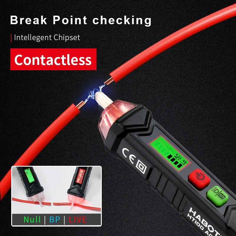 Electrical Tester Voltage Indicator Circuit Breaker Finder Voltage Detector HABOTEST HT100 Series 3 Phase Rotation 12-1000V