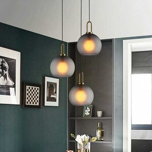 Modern Glass Ball Pendant Light Lighting Fixture Kitchen Hanging Lamp Dining Room Bedroom Luminaire Home Decor Indoor Restaurant