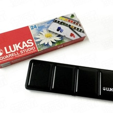 Lukas Imported Original Germany 24 Colors Solid Watercolor Paints Transparent Water Color Sketching
