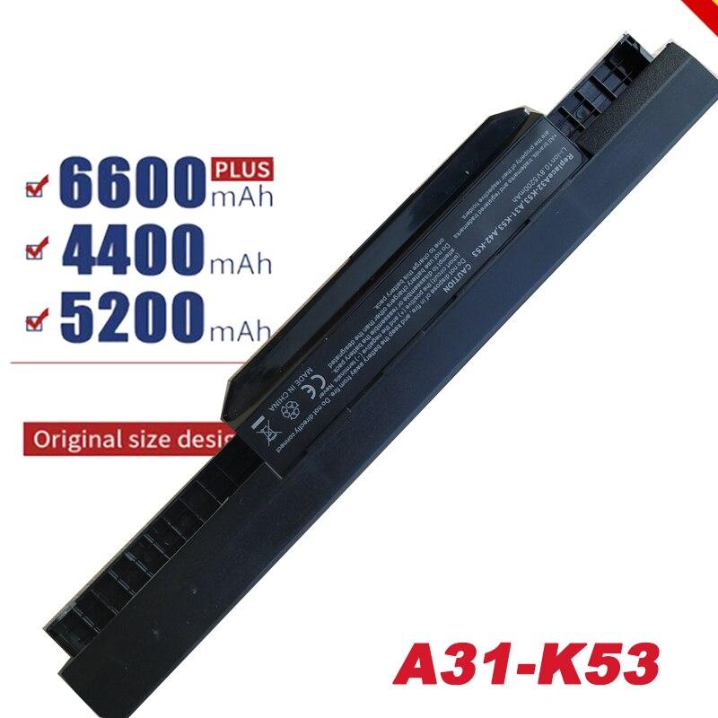 Batería de portátil HSW de 6 celdas K53u para Asus A32 K53 A42-K53 A31-K53 A43 A53 K43 K53 K53S X43 X44 X53 X54 X84 X53SV X53U X53B