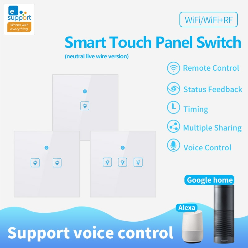 wl irc wifi universal remote control smart remote house control voice smart remote intelligent control Wifi Smart Light Switch 1/2/3 Gang Remote for Google Home Alexa Voice Control Smart WiFi Remote Control Glass Screen Touch Panel
