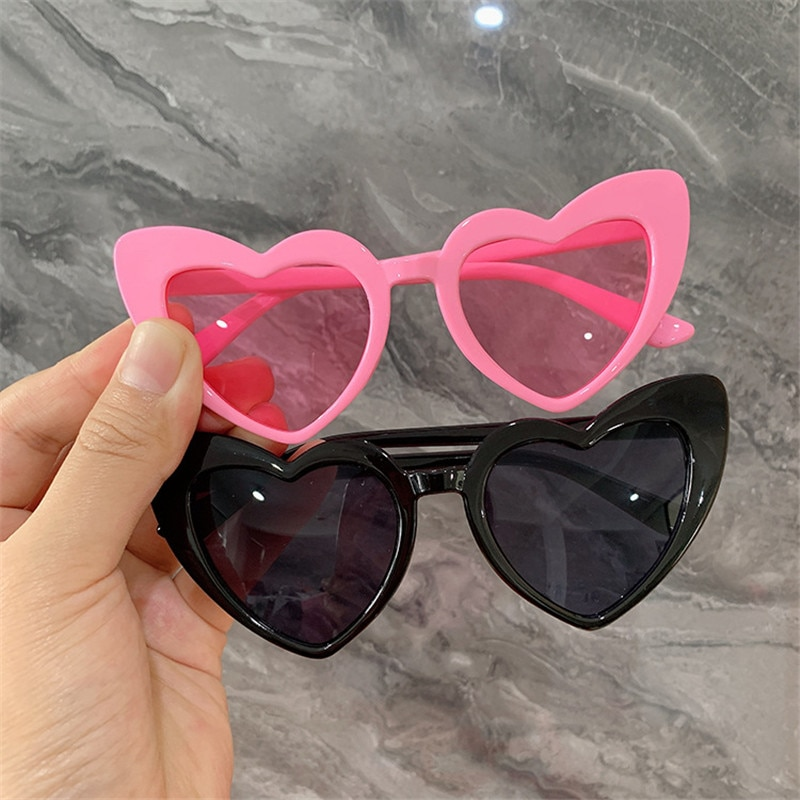 Heart Kids Sunglasses Children Sun Glasses Baby UV400 Mirror Shades Goggles Eyewear Girls Eyeglasses