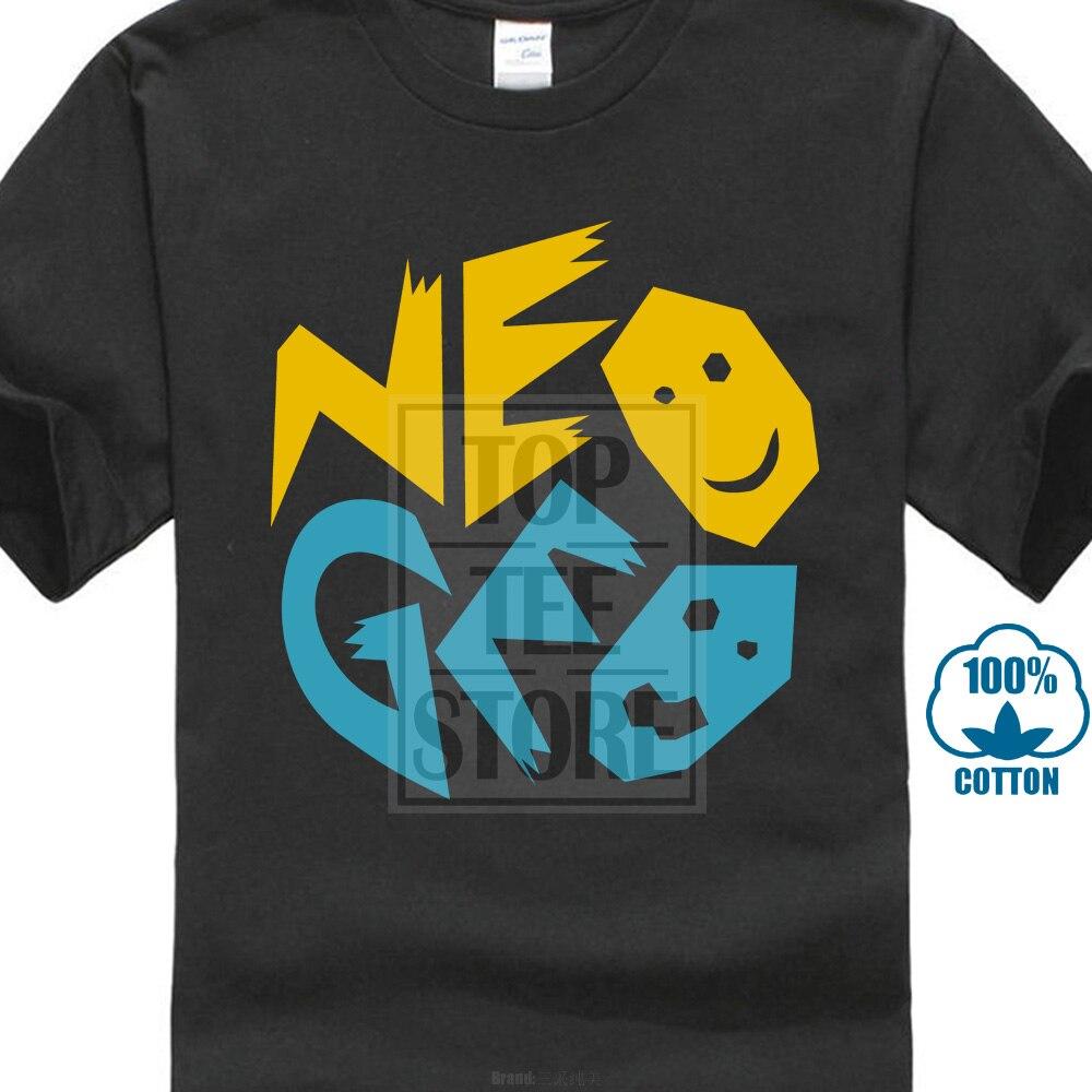 Neo geo snk retro console de jogos de vídeo inspirado t camisa masculina t-shirt dos homens moda legal