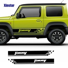 2pcs Car Side Stickers For Suzuki Jimny Auto Stripe Vinyl Film PVC Decals Automobiles Decoration Car