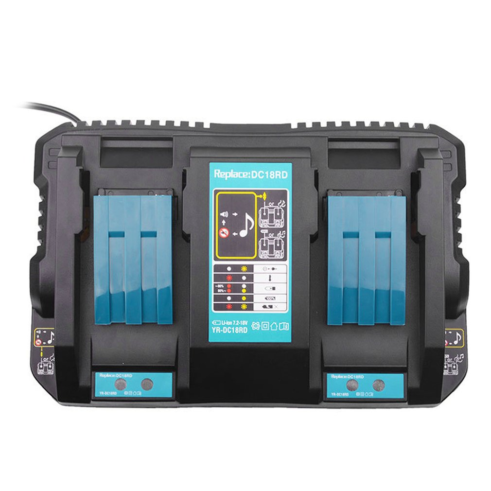 new dc18rct li ion battery charger 3a charging current for makita 14 4v 18v bl1830 bl1430 dc18rc dc18ra power tool Double Makita Li-ion Battery Charger 4A Charging Current for Makita 14.4V 18V BL1830 Bl1430 DC18RC DC18RA Power tool