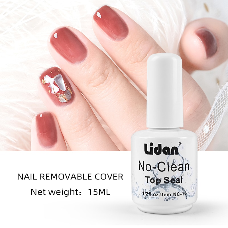 15ml sello barniz transparente tapa lacada abrigo empapa esmalte de uñas de gel uv LED Base para uñas de manicura capa Base