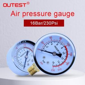 OUTEST Пневматический воздушный компрессор, гидравлический манометр, двухшкальный манометр, манометр, гидравлический манометр