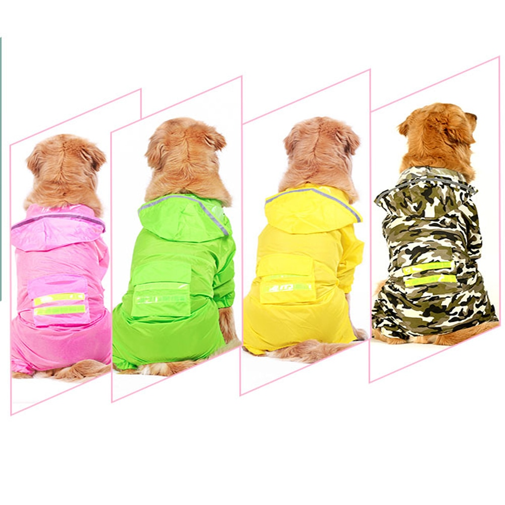 Chubasquero masticar Para Perros... Abrigo Para Mascota de Chaqueta Impermeable Golden Retriever