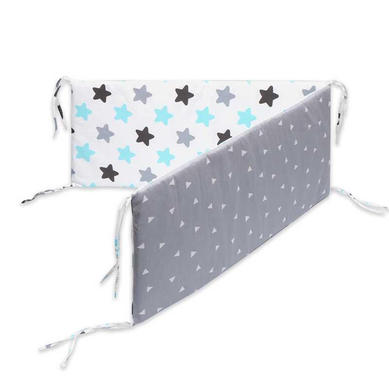 Детская кроватка с принтом, бампер, двухсторонняя Съемная детская кроватка для новорожденных, детская комната, Декор, детская кроватка