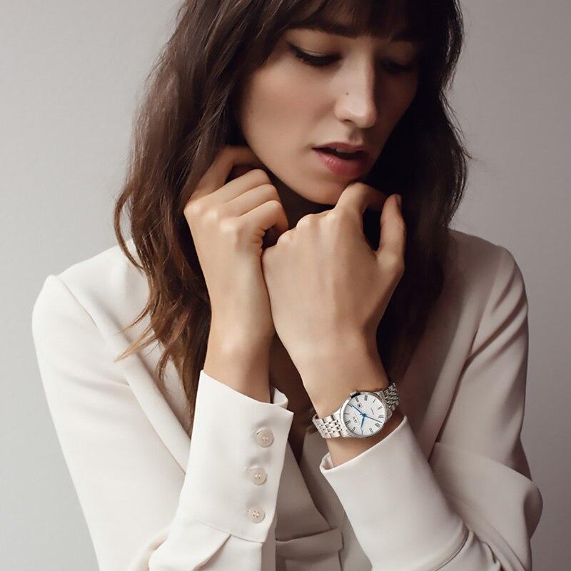 CARNIVAL Brand Women Fashion Automatic Watch Ladies Luxury Waterproof Sapphire Calendar Mechanical Wristwatches Relogio Feminino enlarge