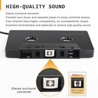 Кассетный адаптер стерео Type C универсальный конвертер для смартфона 3,5 мм вход мини автомобильный аудио АБС анти запутанный четыре канала