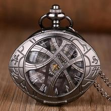 New Classic Eye Shape Hunter Quartz Pocket Watch Dragon Eyes Wolf Necklace Chain Pendant Gifts for M