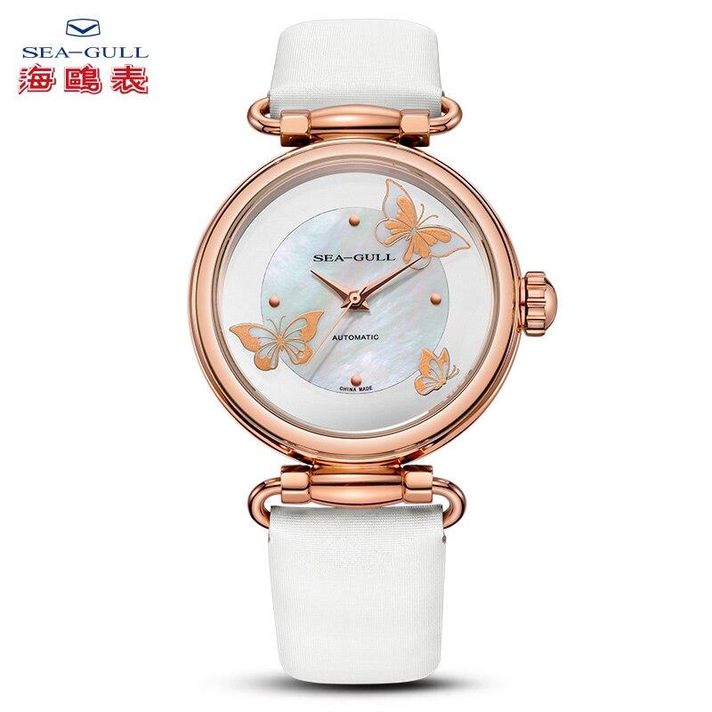 ساعة النورس الإناث التلقائي ساعة ميكانيكية ارتفع الذهب موضة الاتجاه حزام ساعة سلسلة وطنية 513.96.6087L